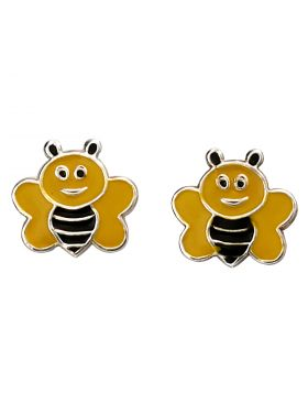 Black and Yellow Bee Stud Earrings (A2053)