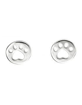 Paw Print Stud Earrings (A2063)