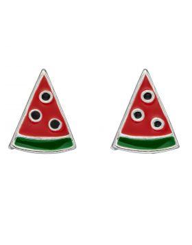 Watermelon Slice Stud Enamel Earrings (A2064)