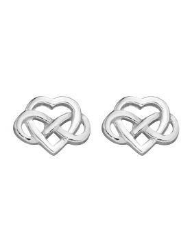 Celtic Knot Heart Stud Earrings (A2074)
