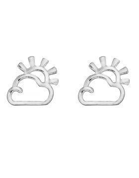 Sun and Cloud Stud Earrings (A2075)