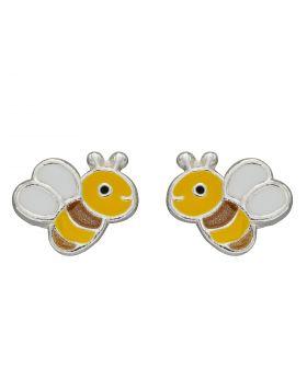 Enamel Bee Stud Earrings (A2076)