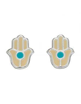 Hand Enamel Stud Earrings (A2077)