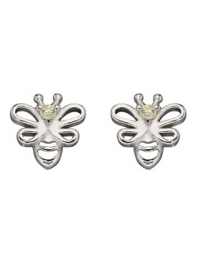 Bee Stud Earrings with CZ (A2081C)