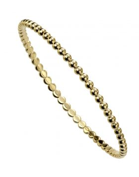 Gold Plated Round Ball Bangle (B5237)