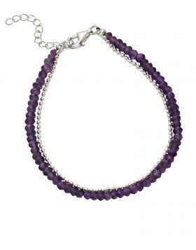 Amethyst Bead Bracelet (B5247M)