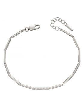Long Stick Pave Tennis Bracelet with CZ (B5258C)