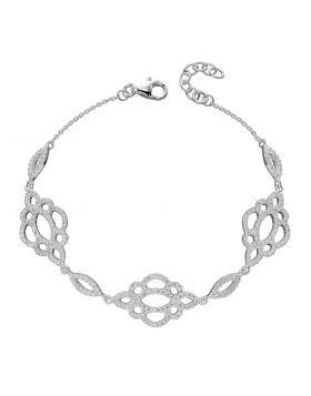 Lace Effect CZ Bracelet (B5261C)