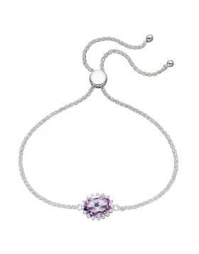 Pink Amethyst Adjustable Bracelet  (B5269P)