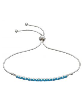 Bar Toggle Bracelet with Turquoise Crystals (B5311T)