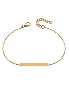 Satin Finish Gold Plated Horizontal Bar Bracelet (B5312)