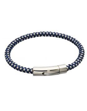 Navy Para Cord Beaded Bracelet (B5327)