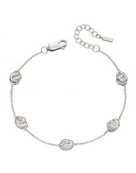 Recycled Silver Station Knot Bracelet (B5332)