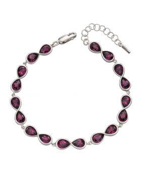 Infinity Amethyst Crystal Bracelet (B5350M)