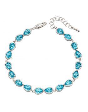 Infinity Aqua Bohemia Crystal Bracelet (B5351T)