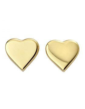 Gold Plated Heart Studs (E5858)