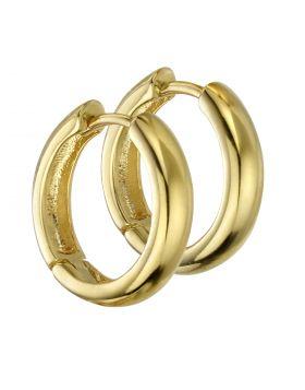 Gold Plated Medium Hoops (E5861)