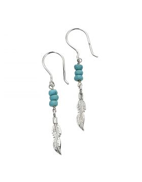 Feather Magnesite Earrings (E5868T)