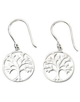 Silver Tree of Life Earrings (E5873)