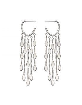 Drop Oval Shaped Waterfall Earrings (E5888)