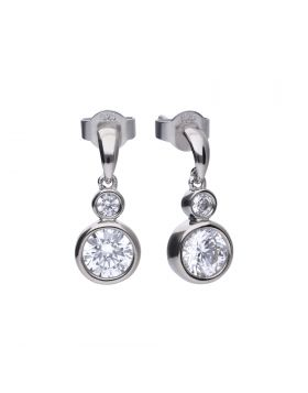 Rubover Double Drop Earrings with Diamonfire Cubic Zirconia (E5903)