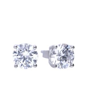 Four Claw Stud Earrings 2ct with Diamonfire Cubic Zirconia (E5908)