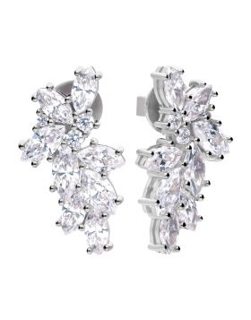 Statement Scatter Earrings with Diamonfire Cubic Zirconia (E5911)