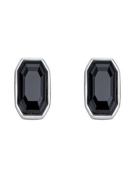 Jet Stud Earrings with Crystals by Swarovski (E5915B)