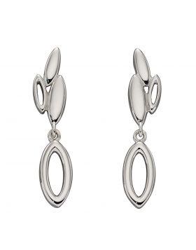 Open Navette Flower Bud Drop Earrings (E5970)