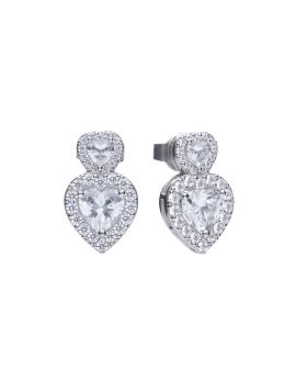 Double Heart Vintage Style Earrings (E5980)