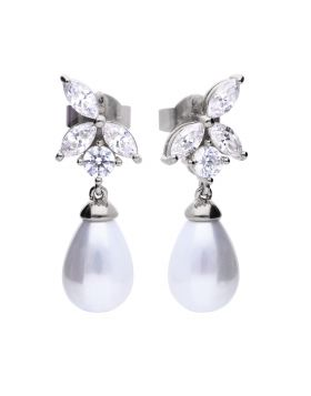 Marquise and Pearl Drop Earrings (E5985)