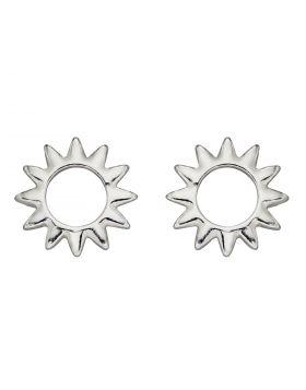 Open Sun Stud Earrings (E5989)