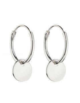 Small Disc Assembled Hoop Earrings (E5991)