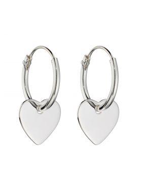 Small Heart Assembled Hoop Earring (E5993)