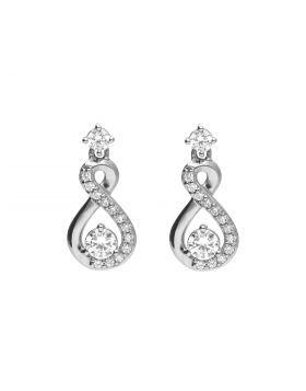 Infinity Drop Earrings with Diamonfire Zirconia (E6055)