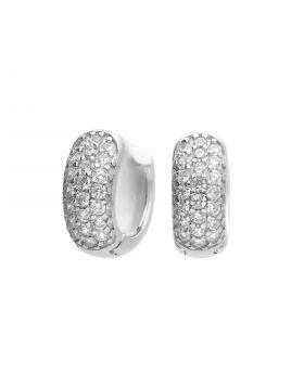 Small Pave Diamonfire Zirconia Huggie Earrings (E6060)