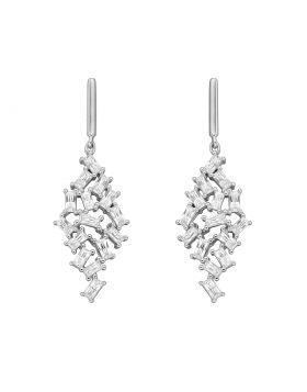 Baguette Diamonfire Zirconia Scatter Drop Earrings (E6063)