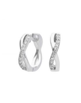 Infinity Pave Diamonfire Zirconia Hoop Earrings (E6065)