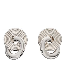 Recycled Silver Textured Stud Earrings (E6072)