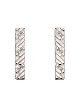 Chevron Bar Stud Earrings (E6079C)