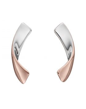 Ribbon Earrings with Rose Gold Plating (E6080)