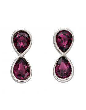 Infinity Amethyst Crystal Earrings (E6118M)