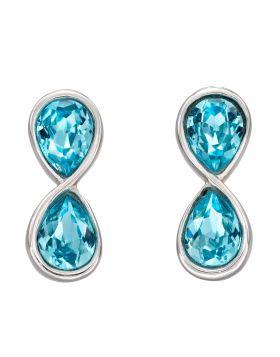 Infinity Aqua Bohemia Crystal Earrings (E6119T)