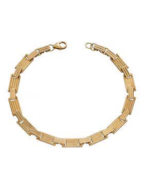 Column Inspired Long Bar Bracelet (GB489)
