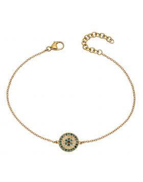 Evil Eye Bracelet with Semi-Precious Stones (GB499)