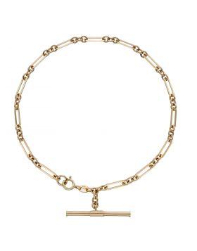 T-Bar Chain Bracelet in Yellow Gold (GB504)