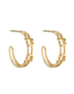 Double Parallel Knot Hoops in Yellow Gold (GE2351)