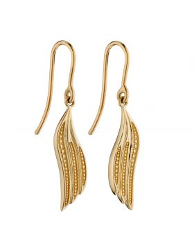 Drop Wing Earrings in Yellow Gold (GE2352)