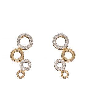 Diamond Bubble Earrings in Yellow Gold (GE2354)