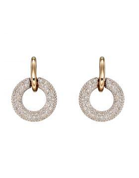 Donut Diamond Earrings in Yellow Gold (GE2360)